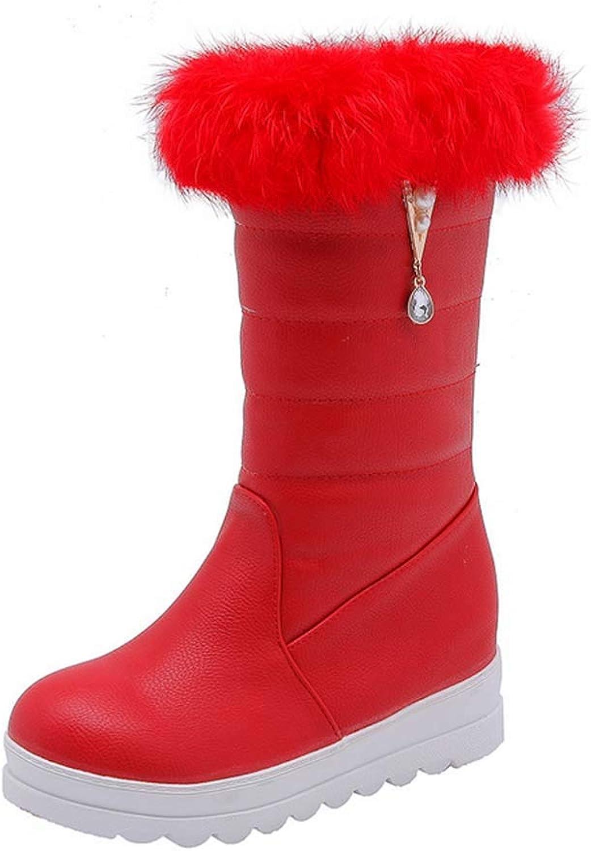 Women Warm Snow Boots 2018 Autumn Winter New Outdoor Platform Fur Lined Sports Boots