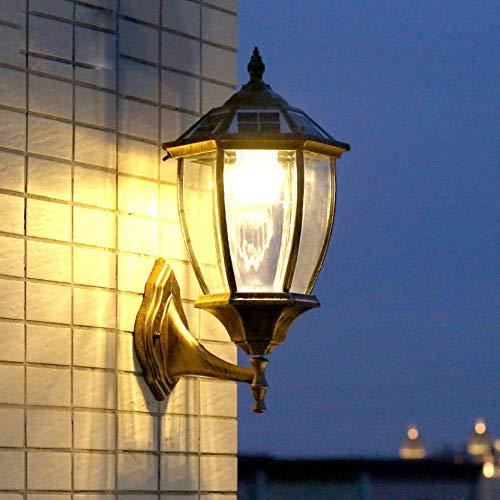 Siunwdiy Apliques Solares de Pared Exterior, Impermeable LáMpara de LED Pared, Aluminio-Base...