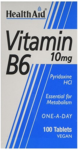 HealthAid Vitamin B6 (Pyridoxine HCl) 10mg - 100 Tablets