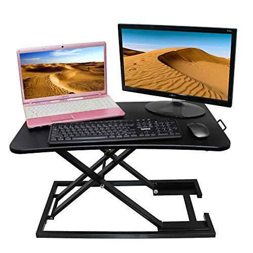 XIWODE Sitz-Steh-Schreibtisch, Höhenverstellbarere Computertisch, Vielseitiger Schreibtischaufsatz,höhenverstellbar