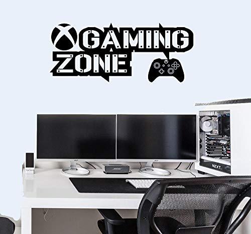 Pegatinas de pared para Xbox One Controller Gamer Vinilo Calcomanías Dormitorio Niños (60 x 30 cm, negro mate)