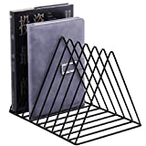 Record Rack,Magazine Holder,Newspapers Holder,Letters Storage,Desktop File Sorter Organizer Triangle Bookshelf Decor Home Office,Photography Props