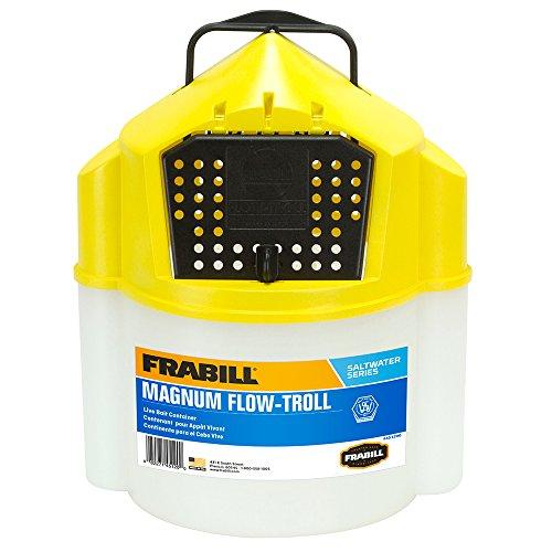 Frabill Flow-Troll Magnum Shrimp Bucket, 10-Quart