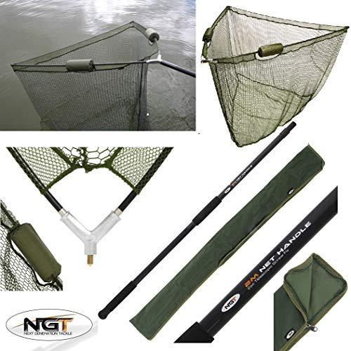36' DUAL FLOAT LANDING NET + 2M HANDLE + STINK BAG NGT CARP FISHING