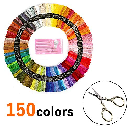 Great Price! TAIKUU 150 Colors Cross Stitch Thread, Colorful Cotton Thread, Crafting String, DIY Acc...