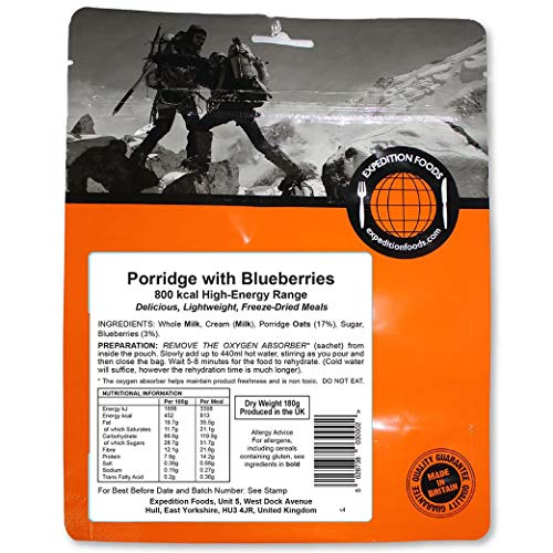EXPEDITION FOODSexpeditionfoods.com Unisex's Porridge with Blueberries  ...
