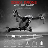 Mobiliarbus SG901 RC Drone with Camera 1080P Follow Me Gesture Optical Flow Positioning MV Interface Photos Video RC Quadcopter with Portable Bag 2 Batteries