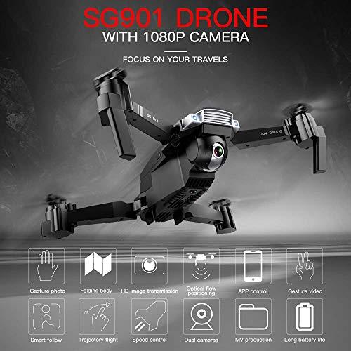 IKAYAAA SG901 Drone con videocamera 1080P Drone Posizionamento del Flusso Ottico Interfaccia MV Seguimi Foto gesti Video Quadricottero RC