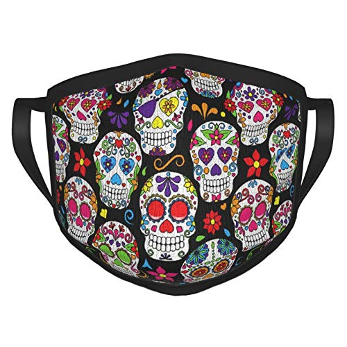 B07ffn154d-Day Of The Dead Sugar Skull-Xl-98 Bandana For Men Women Neck Gaiter Scarf Dust Wind Balaclava Headwear Mouth Cover