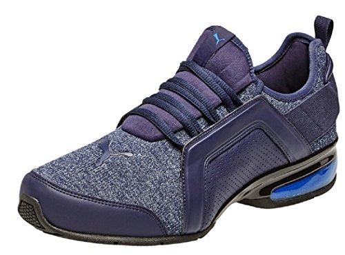 PUMA Herren Leader VT Fresh Knit Runner Sneaker (40.5 EU, Peacoat-Sodalite Blue)