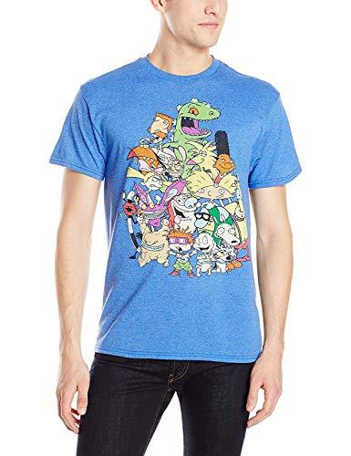 Nickelodeon Men's Nicktoons Supergroup T-Shirt, Royal Heather, Small