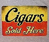 Toll2452 Cartel de metal con diseño de cigarros vendidos aquí tabaco ahumador tabaco tabaco tienda tabaco tabaco tabaco tabaco tabaco tienda tabaco réplica de la placa de aluminio