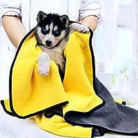 ペットタオルバスタオル 超吸水 犬 猫 ボディータオル マイクロファイバー 速乾 犬体拭き用タオル 洗える 再使用可能 介護 ペット用タオル 四季適用 (XL:140cm X70cm)