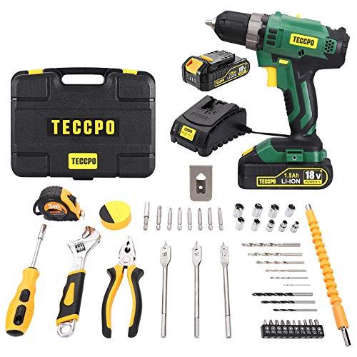 TECCPO TDCK01P Trapano avvitatore a batteria 18V 1.5Ah a 59,99€