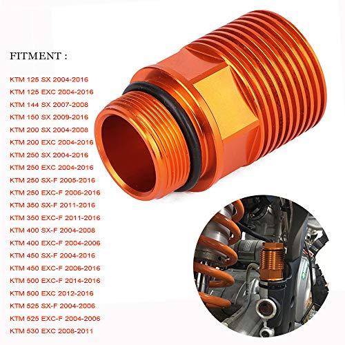 JFG RACING CNC Hinterradbremse Kühlung Verlängerung für 125-530 SX / SX-F / XC / XC-W / EXC / EXC-F 2004-2016, Orange