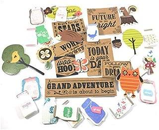 Woodland Country Foam Scrapbook Sticker kit | Grand Adventure Craft Stickers | 3D Craft Embellishments Bundle | 35 Unique Styles