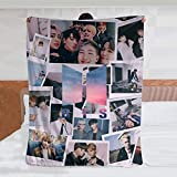 Ripepin Flannel Fleece Throw Blanket K-Pop Sealed BTS Super Soft Lightweight for Couch Sofa Throw, Office Lap, Travel Camping Throw.