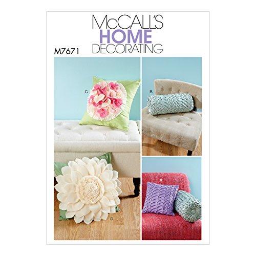 Mccall's Patronen 7671 OS Kussens Naaien, Tissue, Multi-Colour, 17 x 0.5 x 0.07 cm