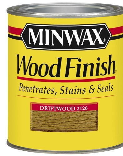 Minwax 22126 1/2 Pint Wood Finish Interior Wood Stain, Driftwood by Minwax