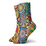 LLeaf Psychedelic Trippy Mandala Flower Gear Calcetines de vestir Calcetines divertidos Calcetines locos Calcetines casuales para ni?as Ni?os