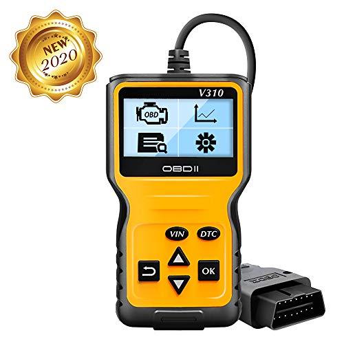 OBD2 Diagnosegerät, Auto OBD II Diagnose Scanner arbeitet an Allen Autos mit OBD2 / EOBD/CAN-Modi und 16-Pin OBDII-Schnittstelle für Lesen und Löschen Fehlercode und Batterie Test (NEU 2020)