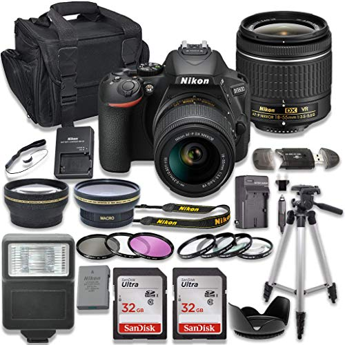Nikon D5600 DSLR Camera with AF-P 18-55mm VR Lens + 2 x 32GB Card + Accessory Kit