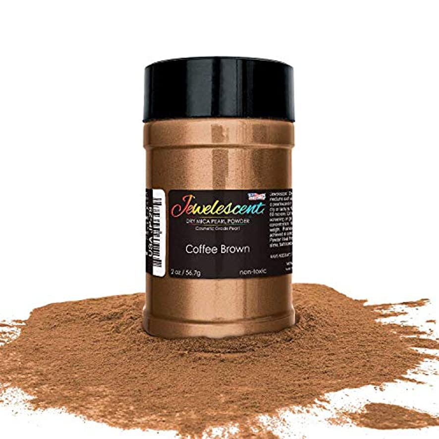 U.S. Art Supply Jewelescent Coffee Brown Mica Pearl Powder Pigment, 2 oz (57g) Shaker Bottle - Cosmetic Grade, Non-Toxic Metallic Color Dye - Paint, Epoxy, Resin, Soap, Slime Making, Makeup, Art