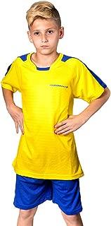 PAIRFORMANCE Premium Boys' Soccer Jerseys Sports Team Training Uniform, Age 4-12, Sports Shirts and Shorts Set.