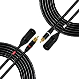 20 Foot - RCA to XLR (Male) Cable Pair - Canare L-4E6S Star-Quad Audio Interconnect Cable & Neutrik-Rean NYS RCA & Neutrik Male XLR Gold Plugs - CUSTOM MADE By WORLDS BEST CABLES [並行輸入品]