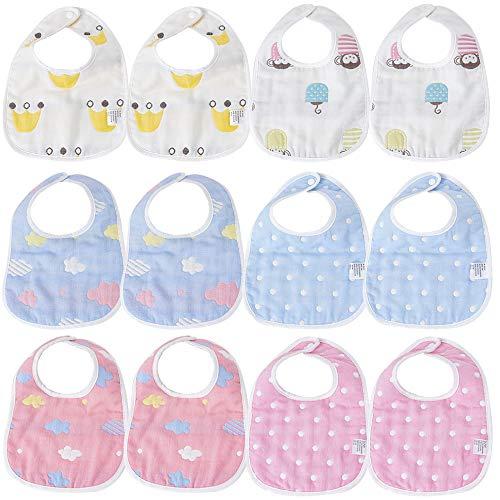 12 pcs baberos bebé niños niñas Baberos impermeables