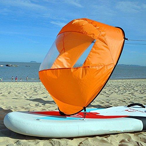 SHUOGOU 42' Downwind Wind Paddle Popup Board Kayak Sail Kit Kayak Wind Sail...