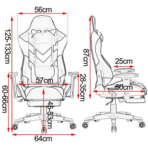 WOLTU® Racing Stuhl BS20ws Gaming Stuhl Bild 2*