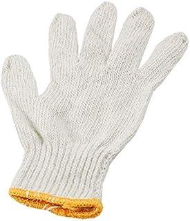 eDealMax 12 accoppiamenti Bianco filo di cotone fabbrica elastico Cuff maglia elettronico Guanti da lavoro di