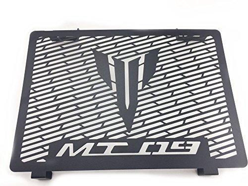 Protection de grille de radiateur pour Yamaha Mt09 2013 2014 2015 2016 2017 Water Cooler Guard Housse de protection pour radiateur (Noir mat)