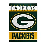 The Northwest Company Officially LicensedNFL Green Bay Packers '12th Man' Plush Raschel Throw Blanket, 60' x 80', Multi Color
