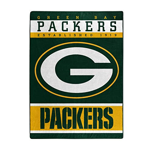 """The Northwest Company Officially LicensedNFL Green Bay Packers """"12th Man"""" Plush Raschel Throw Blanket, 60"""" x 80"""", Multi Color"""
