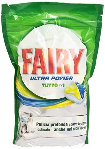 Fairy Ultra Power Tutto in Uno Detersivo in Caps per Lavastoviglie, Limone, 60 Lavaggi