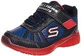 Skechers boys Lighted, Lighs, Lighted, Sport Lighted Sneaker, Black/Red/Blue, 10 Toddler US