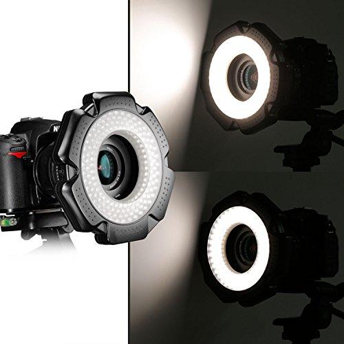 Neewer® R-160 160 Stück 5600K 10W Mini-LED-Makroring -Licht mit 6 Adapterringe (49mm / 52mm / 55mm / 58mm / 62mm / 67mm) für Makro Canon/Nikon /...