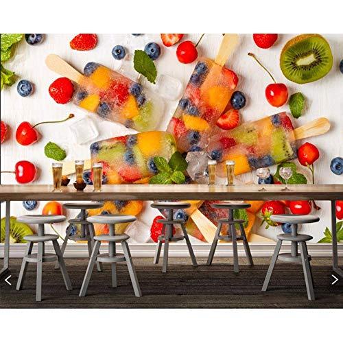 Pmhhc Snoepjes Ijs Fruit Voedsel Foto Behang, Woonkamer Tv Achtergrond Muur Bank Muur Slaapkamer Keuken Restaurant 3D muurschildering 140cmx100cm