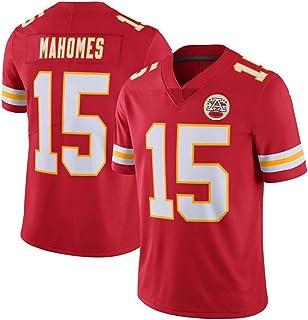 NBJBK Camiseta de de la NFL, Hombres Kansas Chiefs # 15 Mahomes ...