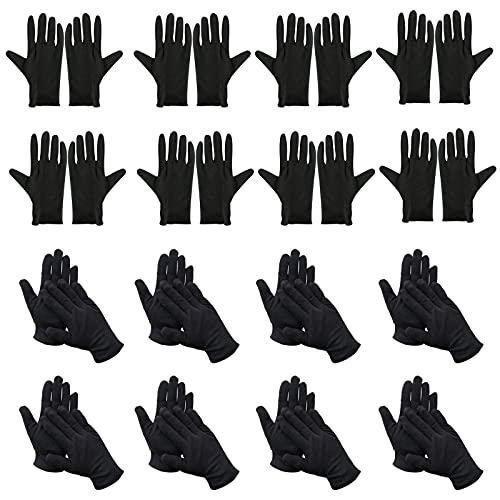 Schwarze Arbeitshandschuhe 12 Paar Schutzhandschuhe Baumwolle Handschuhe Stoff Handschuhe für Malen Unkrautarbeit Juweliergeschäft Schmuckinspektion Zeremonie Etikette Restaurant Zuhause Labor