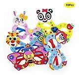 gotyou 10 Stück Cartoon-Brille für Kinder,Kreative Handgemachte Material Puzzles Handwerk,Tier Cartoon Nette Partei Brille,Kinder Pädagogisches Spielzeug(Zufällige Farbe)