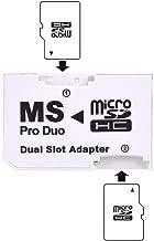 LXSINO Adaptador Dual MicroSD a MS PRO DUO - Convierte dos tarjetas MicroSD o MicroSDHC a MS PRO DUO