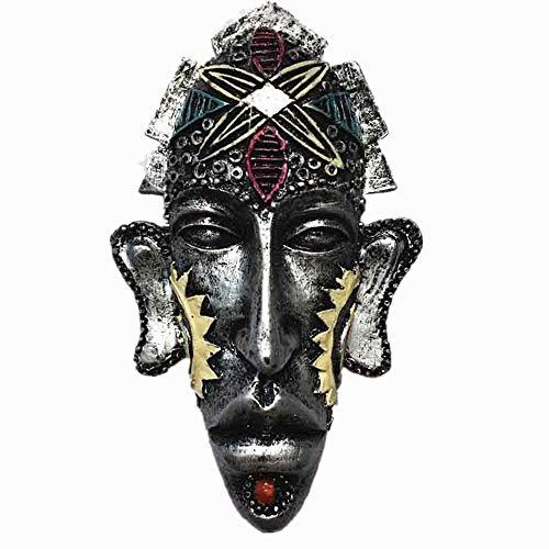 3D Afrika Inheemse masker stijl koelkast magneet, Huis & keuken decoratie magnetische sticker polyresin ambacht, Afrika Inheemse masker koelkast magneet reizen souvenir geschenk