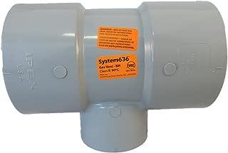 CPVC Flue Gas Vent Tee SYSTEM 636 (4