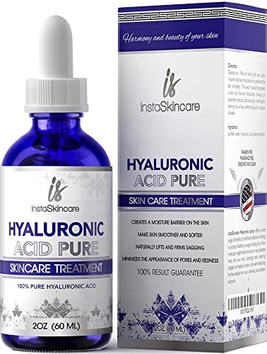 Hyaluronic Acid Serum for Face - 100% Pure Medical Quality Face Serum Clinical Strength Formula Anti aging serum for your skin and lips (2 oz)