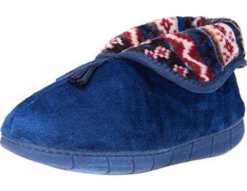 MUK LUKS Womens Porchia Bootie Slippers, Liberty Blue - Size M (7-8)