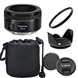 Canon EF 50mm f/1.8 STM Lens with Optimal Accessory Bundle