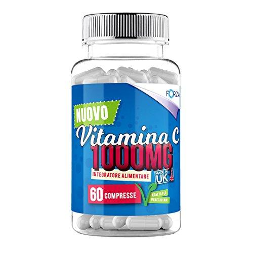 Compresse di vitamina C - 1000mg ad alta resistenza - Acido ascorbico - Ossidante naturale (60 capsule)